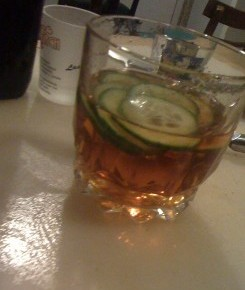 Maxine's cucumber manhattan