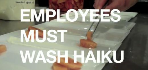 Employees Must Wash Haiku